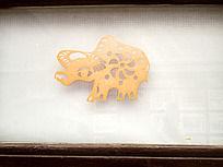 十二生肖剪纸窗花之牛