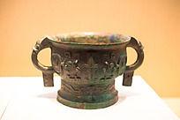 战国时期的青铜饭盒龙纹高圈足簋