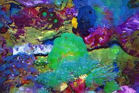 海底世界油画