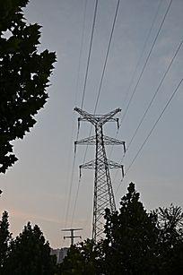 城市电力设施高压线铁塔