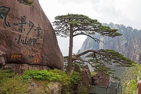 黄山奇石风景