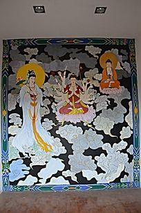 杨家埠民俗文化村里的观音壁画