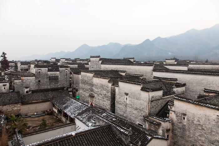 黟县南屏建筑的自然风光图片