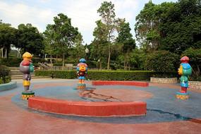 卡通雕塑喷泉