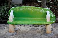绿色卡通石头椅子