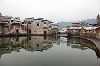 冬天的黟县宏村月昭景观