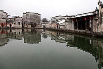黟县宏村月昭的徽派建筑