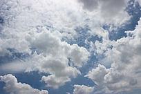 云彩  天空  白云  蓝色的天