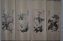 梅兰竹菊绘画