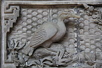 一只鸟的浮雕