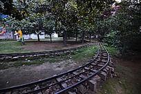焦作月季公园的过山车火车道