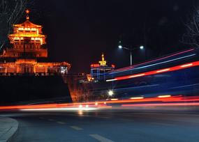 濟南解放閣夜景