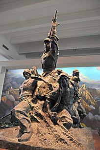 抗日群体雕塑