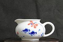 青花瓷小鱼荷花陶瓷茶杯