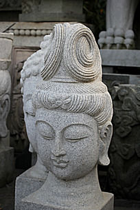古代女人头像石头雕刻