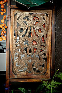 古典传统工艺木艺花纹雕刻