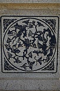 古典花纹雕饰图案