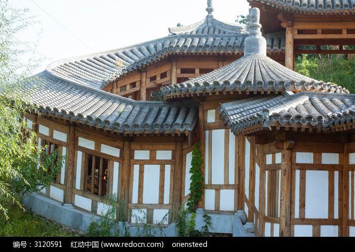 环形回廊的屋顶和外墙图片