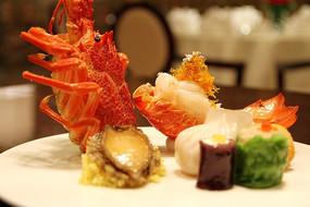 精致美食澳洲龙虾特写