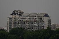 太阳能取暖的新能源住宅楼