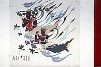 天水麦积山第四窟飞天仙女艺术壁画