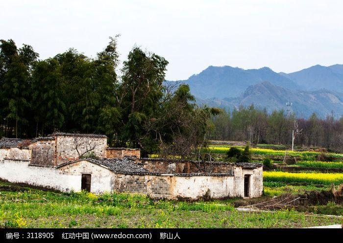 黟县卢村民居庭院图片