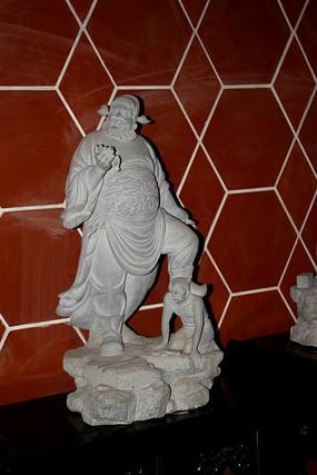 钟馗古代人物雕刻