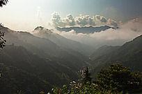大山的沟壑