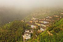 歙县六联坐落在高山上的村落