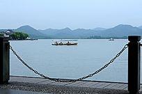 西湖泛舟 旅游胜地