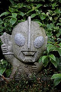 奥特曼石头雕刻艺术图片