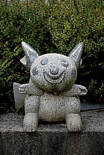 抽象动物石头雕刻艺术图片