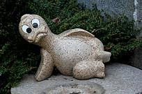 搞怪动物石头雕刻艺术摄影