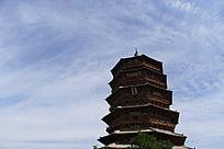 山西应县木塔远景