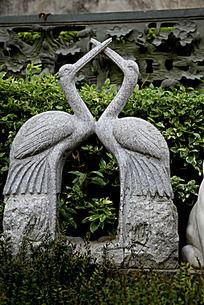 仙鹤石头雕刻艺术图片摄影