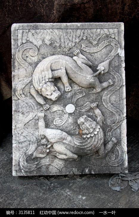 中国传统图案雕刻艺术摄影图片