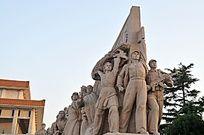 天安门群体英雄雕塑