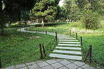 公园青石小径