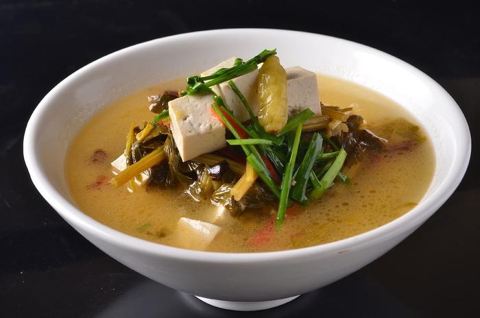 浆水菜炖豆腐图片