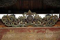 中国式传统花纹木雕