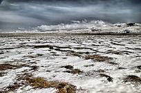草原的雪景