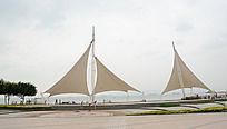 厦门海边帆布图片