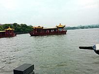 杭州西湖-水面游船