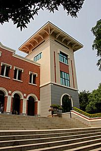 厦大图书馆一角建筑