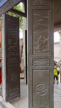 古代木门雕刻纹样