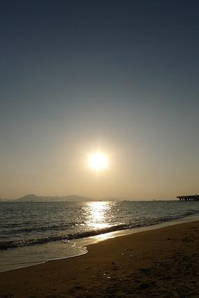 厦门白沙海滩日落