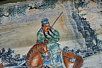 颐和园的画廊-骑马的红脸张飞汗血宝马