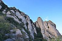层层叠叠的大山山石