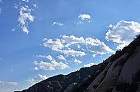 蓝天 白云 山脉 石头