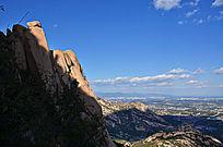 天然形成的大山石头